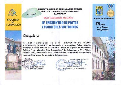 IV Encuentro de Poetas y Escritores Victorinos