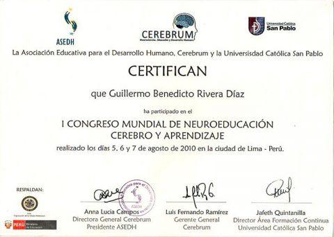 I Congreso Mundial de Neuroeducación Cerebro y Aprendizaje